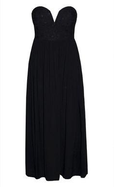 Skye Black Lace Corset Maxi Dress  55.95 7623185eb6c