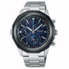 WIRED ワイアード SEIKO セイコー THE BLUE ザ ブルー SKY スカイ  クロノグラフ 腕時計 メンズ ブルー AGAW420