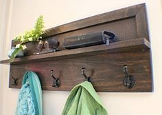 rustic hallway with diy wood wall decor hanger ideas ikea stand up wall mounted coat rack and rectangular frame brown wooden wall mounted coat hau2026