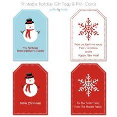 custom.....HOLIDAY GIFT TAGS AND MINI CARDS {FREE PRINTABLE}