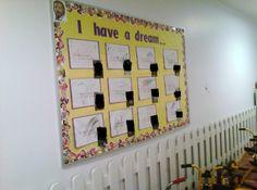 I have a dream bullentin board
