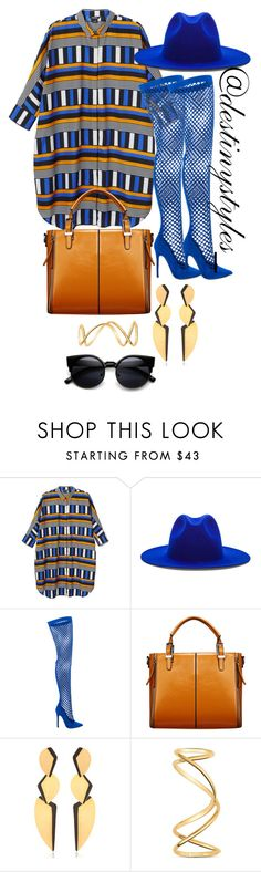 """Untitled #186"" by iamdestinnny ❤ liked on Polyvore featuring Monki, Études, Privileged, Relaxfeel, Hervé Van Der Straeten and Maison Margiela"