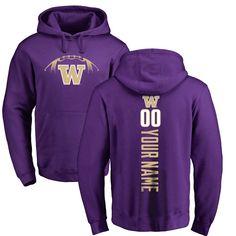 Washington Huskies Football Personalized Backer Pullover Hoodie - Purple