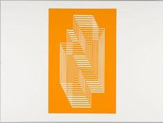 Josef Albers, Synopsis (white lines on orange), 1972, Harvard Art Museums/Fogg Museum.