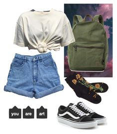 """""""Untitled #81"""" by sunsetsandflowers on Polyvore featuring Herschel Supply Co. and Vans"""