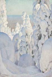 ein-bleistift-und-radiergummi: Pekka Halonen 'Winter Landscape at Kinahmi' 1923 Winter Landscape, Landscape Art, Landscape Paintings, Painting Snow, Winter Painting, Winter Trees, Winter Art, Winter Sunset, Candy Art