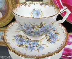 Aynsley Teacup Textured Flower Tea Cup and Saucer