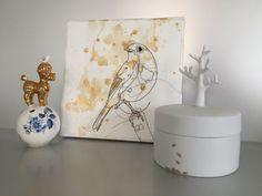 Kustwerkje Birds  #art #textile