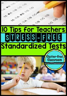 Tips for Stress-Free Standardized Testing helps teachers & students prepare for PARCC & other mandated tests. Get the kids ready without wasting valuable class time cramming in test prep. An experienced teacher shares great ideas that have worked for stan Elementary Teacher, Elementary Education, Upper Elementary, Elementary Science, Math Literature, Teaching Resources, Teaching Ideas, Classroom Resources, Classroom Themes