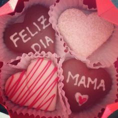 Día de la madre Cookies, Desserts, Food, One Day, Cards, Biscuits, Meal, Deserts, Essen