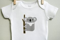 Baby boy clothes koala. Long or short by squarepaisleydesign