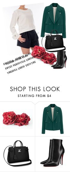 """Office look for autumn days by NAGA"" by paulina-leopold on Polyvore featuring moda i Christian Louboutin"