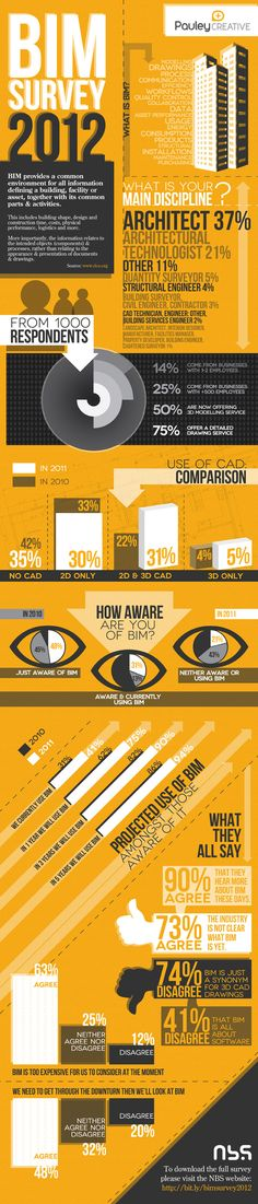 BIM Survey 2012 #infographic #architecture