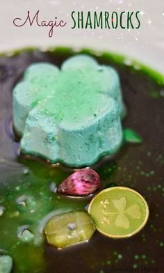 MAGIC Shamrocks with treasures hidden inside- my kids flipped for this & played for hours!