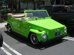 The Volkswagen Thing - what a brilliant name for an auto. Eccentric and relatively rare, the Thing has zing. Volkswagen Karmann Ghia, Auto Volkswagen, Volkswagen Thing, My Dream Car, Dream Cars, Convertible, Automobile, Vw Classic, Vw Vintage