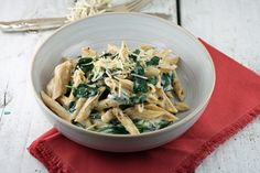 My teenage daughters do not like cheese, however they do love macaroni and cheese.  I made this super fast, Cheesy Penne with Spinach, since it is a light and creamy cheese with pasta, and I'm tryi...