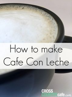 Learn how to make a traditional Cafe Con Leche coffee using a Keurig brewer and Cafe Bustello Kcups! Coffee Uses, Great Coffee, Coffee Time, Tea Time, Café Cubano, Cuban Cafe, Coffee Brewer, Espresso Coffee, Deserts