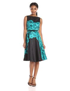Julian Taylor Women's Sleeveless Midi Length Printed Party Dress *** Discover this special product, click the image : cocktail dresses