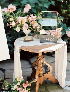 Vintage Wedding Fairytale Forest Wedding with a Pastel Pink Color Palette Gift Table Wedding, Outdoor Wedding Reception, Card Box Wedding, Wedding Guest Book, Wedding Details Card, Wedding Shot, Wedding Dj, Chic Wedding, Wedding Makeup