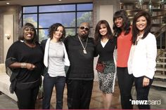 Singer-songwriter and television personality CeeLo Green visits the ladies of THE TALK, Monday, June 9, 2014 on the CBS Television Network. From left, Sheryl Underwood, Sara Gilbert, CeeLo Green, Marie Osmond, Aisha Tyler and Julie Chen