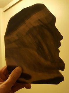 Details of Translucent Obsidian Background, Portrait of Christ.