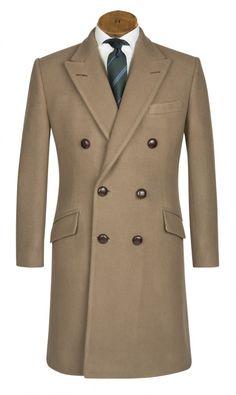 Turnover/Change — Huntsman British warm overcoat, modeled on First...