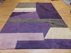 8' x 11' Purple Gray Modern Hand Tufted Wool Rug Momeni NW-19 New Wave