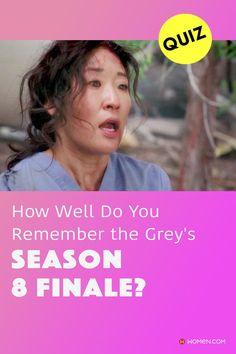 A quiz on the Grey's Anatomy season 8 finale that only a real fan will be able to pass! Make the doctors proud! #greysseason8 #greys #shondaland #greysLove #greysrandomQuiz #greysFan #meredithgrey #shonda #cristinayang #GreysAnatomy #greysquiz #greysnostalgia #greysAnatomyTrivia
