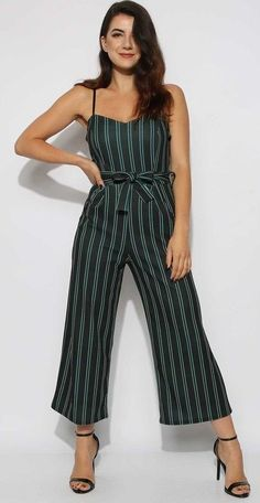 33fda8900441 Cami Stripe Culotte Jumpsuit - chic and fun this Cami Stripe Culotte  Jumpsuit with Adjustable Cami