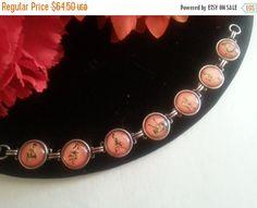 Now On Sale Vintage Pin Up Bracelet Retro by MartiniMermaid