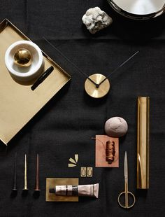 Brass and copper styling - via cocolapinedesign.com - styling by Irina Graewe