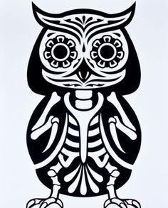 #owl #skeleton