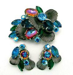 Vintage Juliana Watermelon  Brooch Earrings by ALLUWANTISHERETODAY, $125.00
