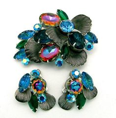 Vintage Juliana Watermelon Brooch & Earrings
