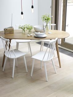 859a1501fc6b Via Louisa Grey | White and Wood | Dinnertable Sillas, Cocinas, Cocina Sala  De