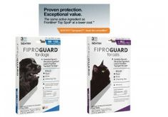Sentry Fiproguard has the same ingredient as Frontline Top Spot but a better price.  Grab it quick for an extra $17 off!
