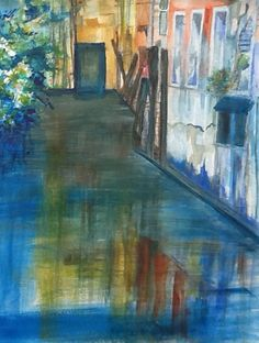 Venice Canal Watercolour Artwork by Artist Sharon Wood swoody@internode.on.net