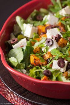 Salade de Butternut Epicée Rôtie à la Fêta et aux Olives Kalamata
