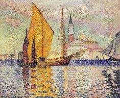 San Giorgio Maggiore, Venise, huile sur toile de Henri Edmond Cross (1856-1910, France)
