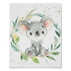 Nursery Wall Murals, Nursery Art, Nursery Decor, Room Decor, Koala Nursery, Australian Animals, Australian Nursery, Artistic Visions, Baby Painting