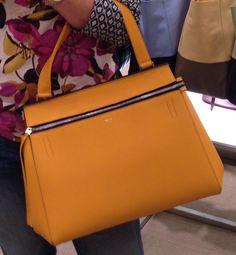 celine beige leather handbag edge