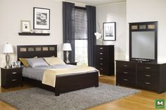 Have sweet dreams in style with the Dakota™ Queen Bedroom Suite. Between beautiful styling and plenty of storage, this beautiful bedroom set will benefit any bedroom with its functional furnishings. In an Espresso Finish, this collection includes everything from a headboard and footboard to a 6-drawer dresser.