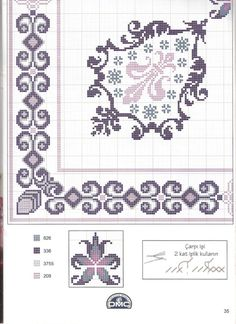 Gallery.ru / Фото #24 - 53 - kento Cross Stitch Pillow, Cross Stitch Borders, Cross Stitch Flowers, Cross Stitching, Cross Stitch Embroidery, Embroidery Patterns, Cross Stitch Patterns, Needlepoint Designs, Needlepoint Stitches