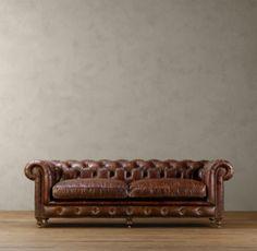 Kensington Leather Sofa - traditional - sofas - - by Restoration Hardware