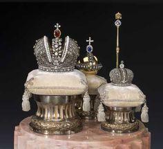 Fabergé Miniatures of the Imperial Coronation Regalia, St. Petersburg, C. Fabergé's Company. 1900, State Hermitage Museum
