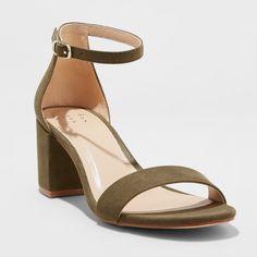a2c8cc4a90d Women s Michaela Block Heel Pumps - A New Day Olive (Green) 8 Pump Shoes