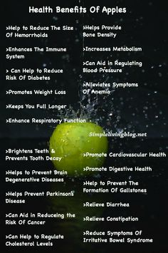 Health Benefits of Apples - Don't forget to eat the peels! ☺