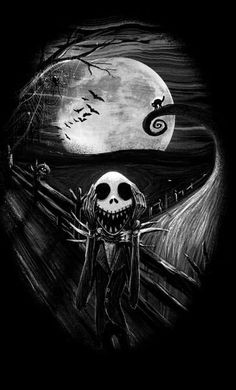 """The Scream Before Christmas"" by Nicebleed Jack Skellington in the style of Edvard Munch's The Scream Art Tim Burton, Tim Burton Kunst, Tim Burton Style, Tim Burton Films, Arte Horror, Horror Art, Funny Horror, Christmas Rugs, Christmas Posters"