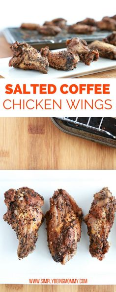 Salted Coffee Chicken Wings \ such a tasty way to add a little pep to a tailgating favorite. Click through to get the recipe