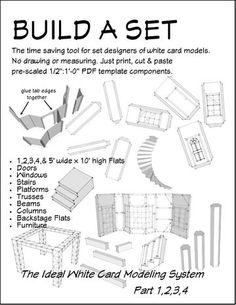 Build A Set White Card Model system. Stage Set Design, Set Design Theatre, Tool Design, Design Model, Design Ideas, Drama Teacher, Drama Class, Teaching Theatre, Scenic Design